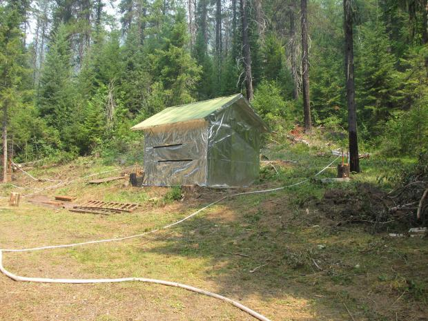 Structural protection at Midget Cabin 2