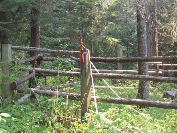 Structural protection with sprinklers at Midget Cabin
