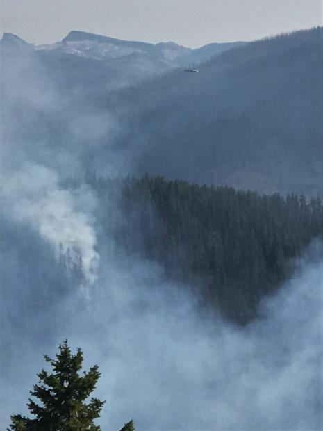 Air operations over the Beaver Fire on 9/6/2020