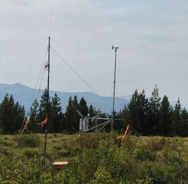 Weather station near the Beaver Fire