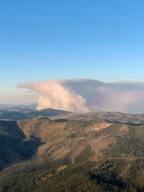 Smith Knob Fire, August 2, 2019