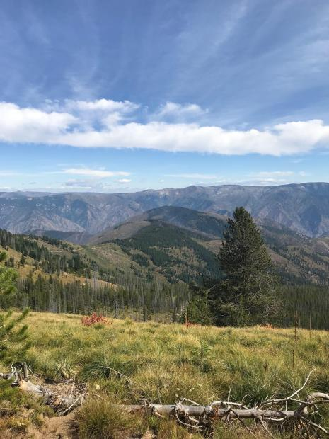 Smith Knob Fire with minimal fire activity, Sept 7
