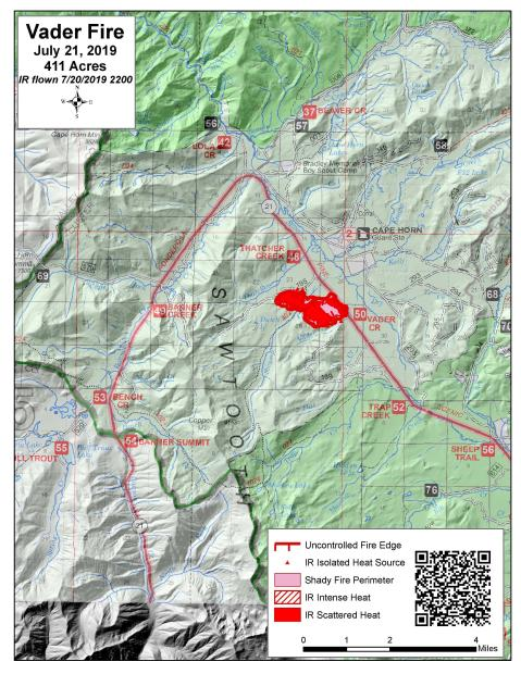 Vader Fire Map July 21