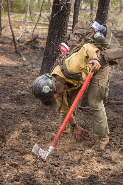 Cold trailing the Fire Line