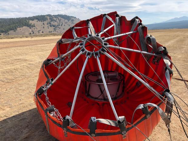 This Bambi Bucket holds 1,000 gal. of water and when full weighs 9,000 pounds