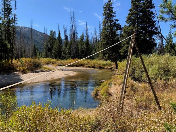 Sprinklers at Jakes Gulch Fire