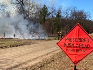 Firefighters implementing SE Peacock RX Fire Project