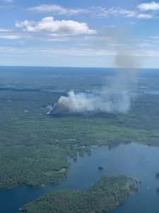 Aerial photo of the Delta Fire at initial attack.