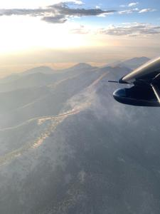 Evening photo from Air Attack of the Old Baldy Fire 8/5/2020