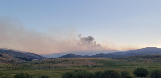 Bearn Creek Fire Interior Burning on NW corner August 29, 2020