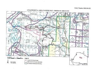 State Creek Fire Closure Map Sept. 22, 2020