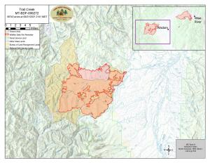 Topo map of fire and closure area