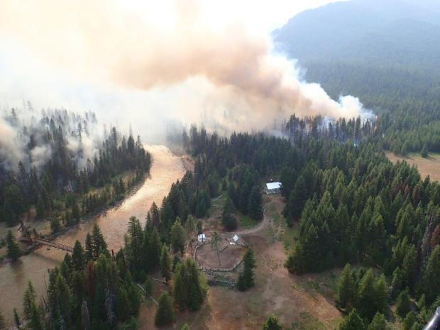Snow Creek Fire crews conduct successful burnout operations at the Black Bear Administrative site.