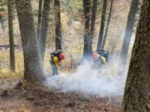 Bridger Foothills Fire, Mopping up, Sept 29