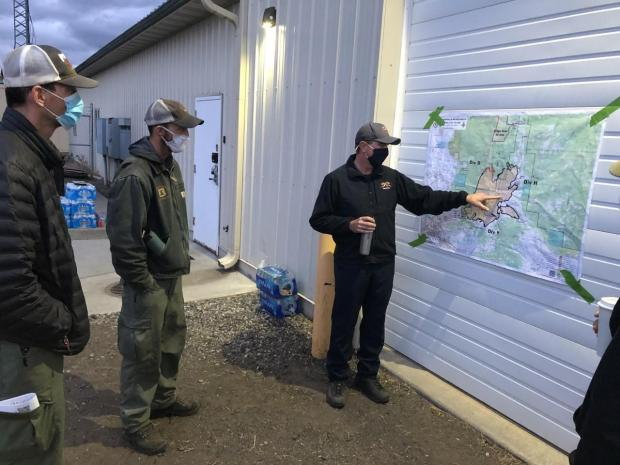 Operations Chief Nickolay explains the plan for the day