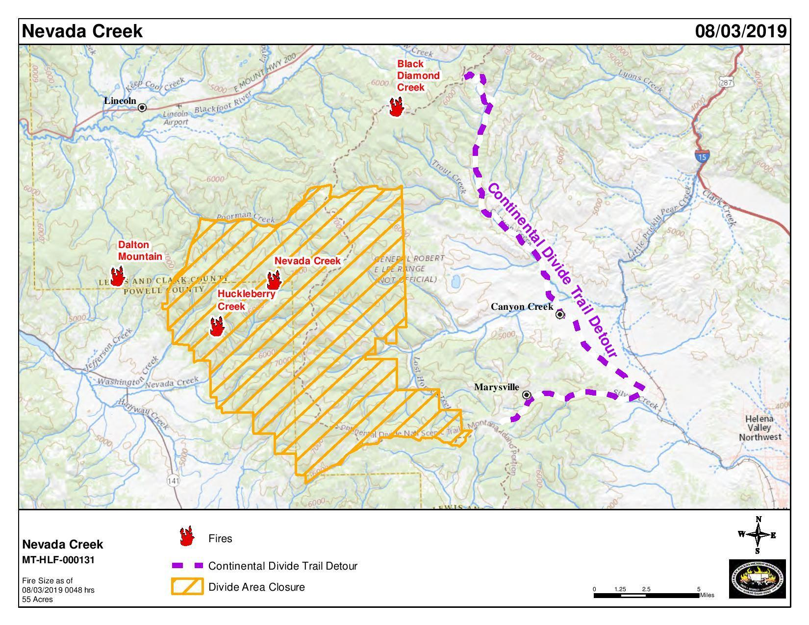 8/3/2019 Map of Nevada Creek Fire - InciWeb the Incident ...
