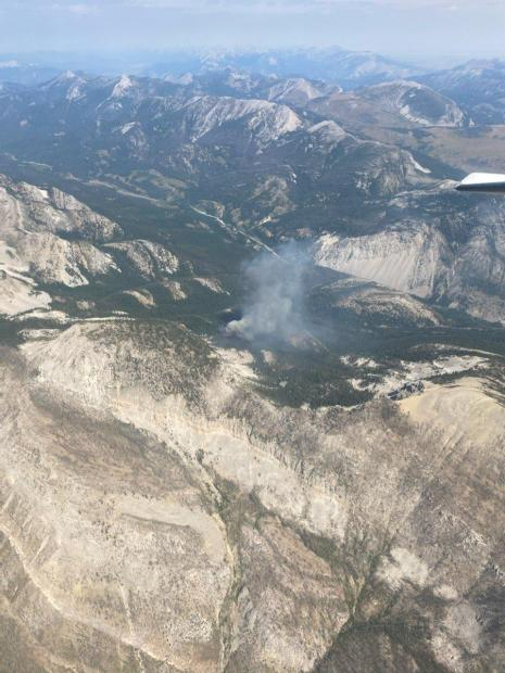Aerial shot of the Wood Lake Fire