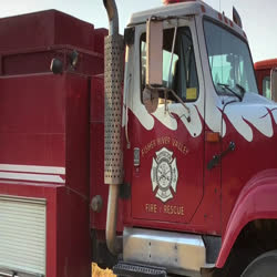 Video shows many different agency logos on trucks, engines, and shirts. Ends with Thank you!