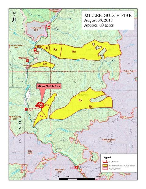 Miller Gulch Fire Public Information Map