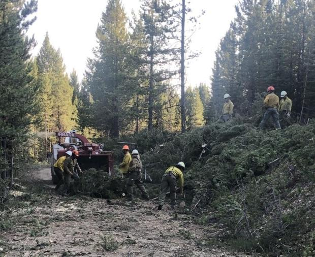 Chipping operations on Cinnabar Fire