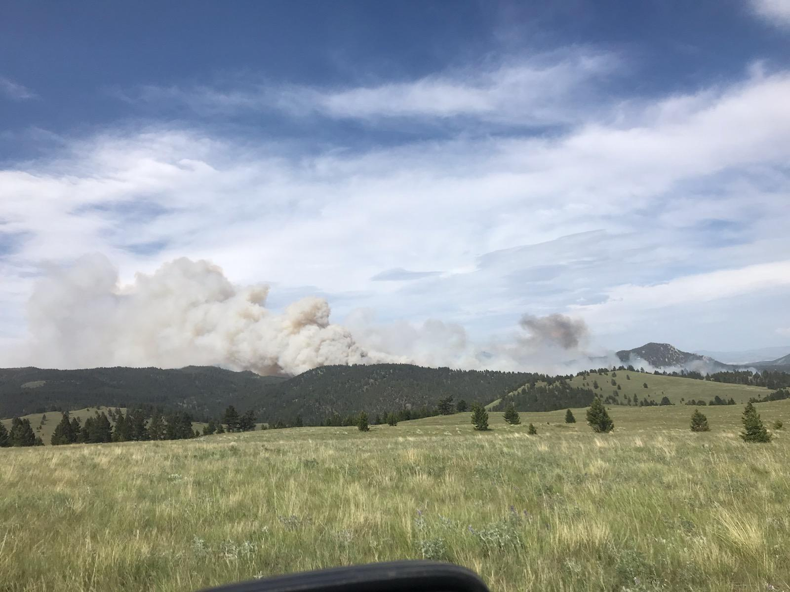 Lump Gulch Road - View from Fire