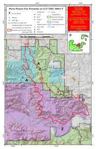 Map of the Horse Pasture Fire
