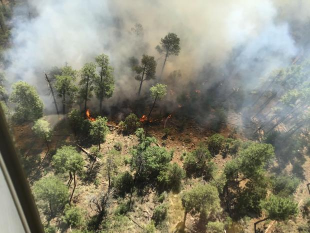 View of the Tadpole Fire from the air - 06/18