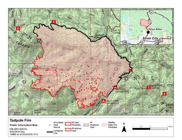 Tadpole Fire Public Information Map 06/25