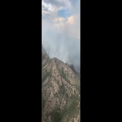 This video shows the activity in Sycamore Canyon, currently the most active on the johnson fire, located on the southwest portion of the fire