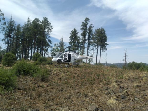 The Johnson Fire has two helicopters currently assigned and a third on order. The two current are both A-Stars