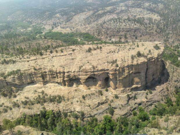 Aerial View of Gila Cliff Dwellings