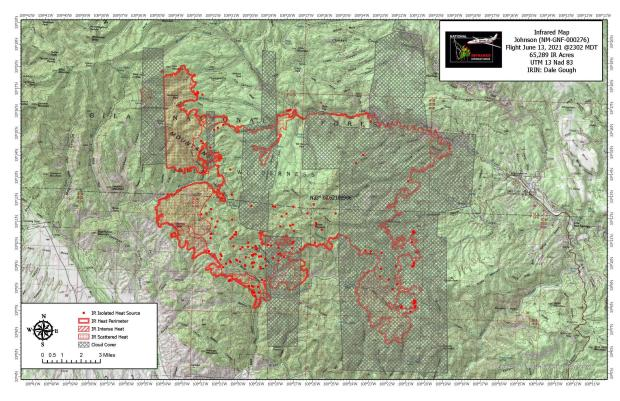 showing growth of approximately 2500acres