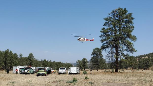 Helicopters are classified by their lifting capacity and occupancy this is a Bell 205 ++ from Shasta Trinity Forest