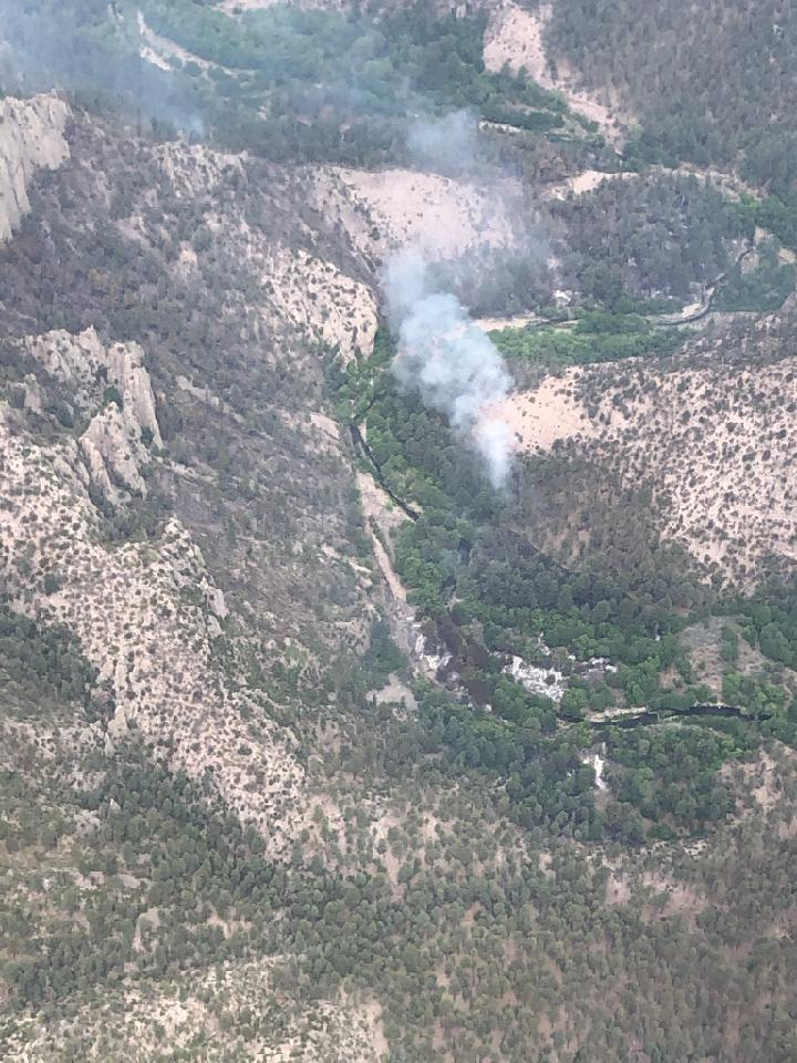 spot fire north of west fork of gila river
