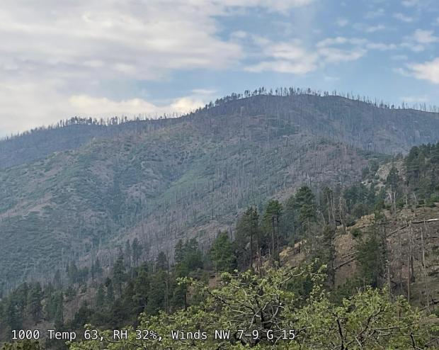 Hazy over Drummond fire area June 6 morning
