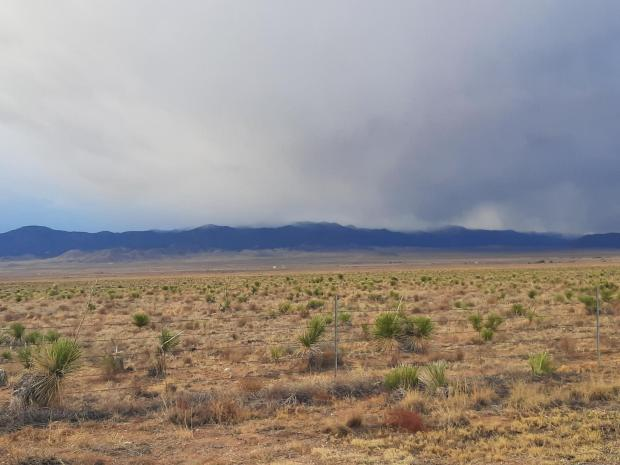 White Mountains at 6:30 am Wednesday, April 28, 2021, where the Three Rivers Fire is burning.