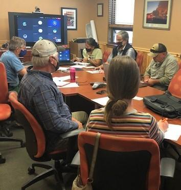 BAER Team Members convened at the Smokey Bear Ranger District on May 12th to begin their assessments.