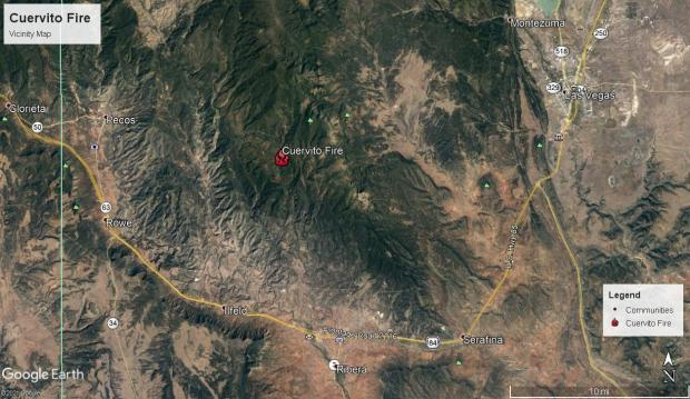 Cuervito Fire and surrounding communities
