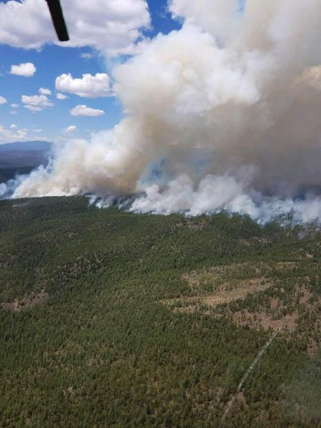 Aerial view of Cuervito Fire