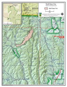 Vicinity map of the fire area