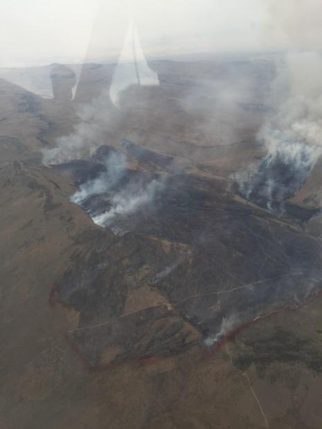 This is a photo of the Elk Fire taken from air attack plane on August 19