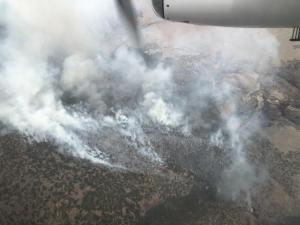 Aerial resources map the Taft Fire at 1,400-plus acres.