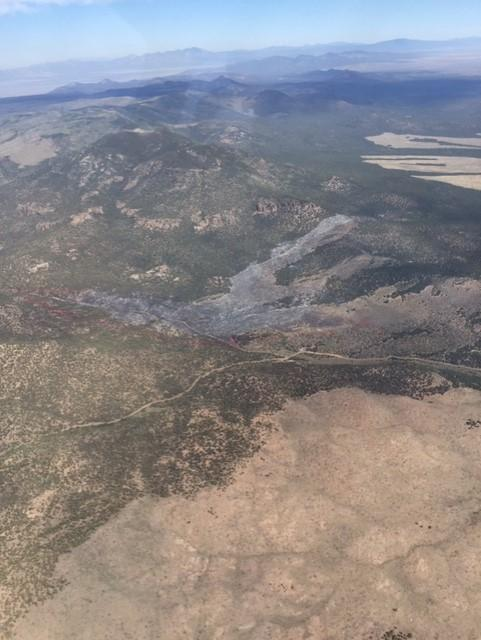 Aerial photo of the Miller Fire