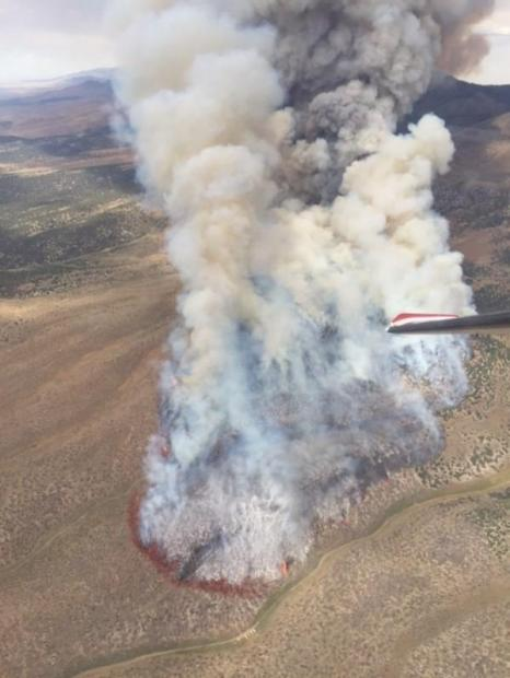 Aerial photo of the Cherry fire