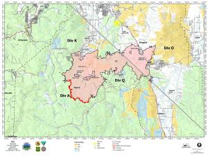 Map of the Tamarack Fire Aug. 20, 2021