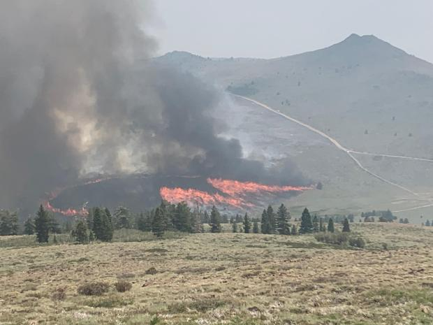 burn operation in southeast side of the fire, 7/25