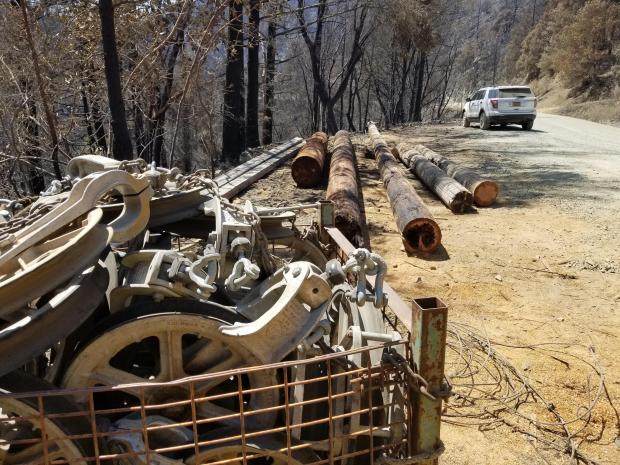 Electrical line gear Milepost 97 fire
