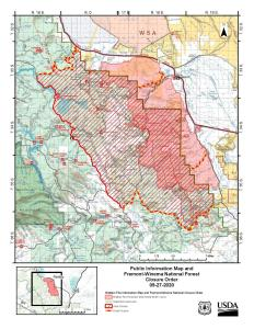 Brattain Fire Map-Sept 27 (unchanged since 9/23)