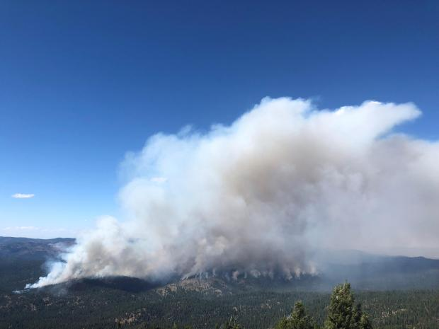 Smoke dispersal to the east of Canyon Rx in mid-afternoon Sept. 3