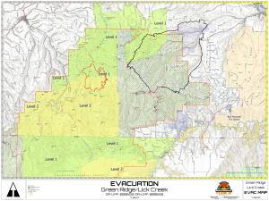 Expanded Evacuation Map for July 30, 2021